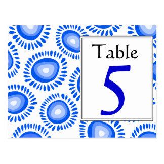 Número enrrollado azul marino precioso de la tabla postales