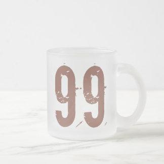 Número erosionado 99 taza de café