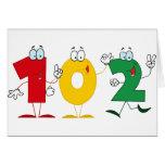 Número feliz 102 tarjeton