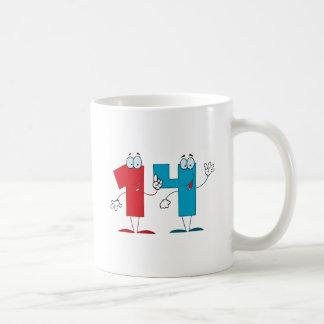Número feliz 14 taza clásica