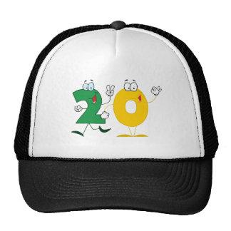 Número feliz 20 gorros bordados