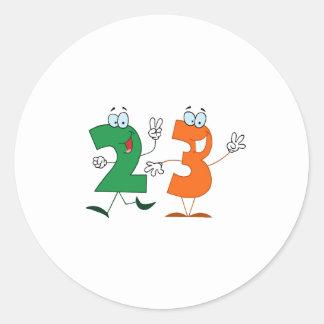 Número feliz 23 pegatina redonda