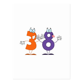 Número feliz 38 tarjetas postales