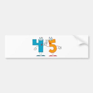 Número feliz 45 pegatina para auto