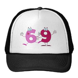 Número feliz 69 gorras de camionero