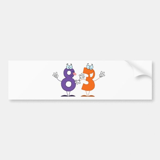 Número feliz 83 pegatina para auto