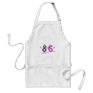 Número feliz 86 delantal