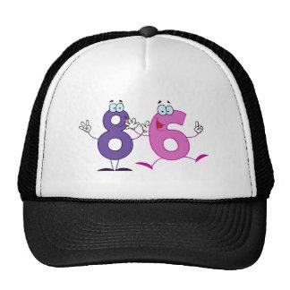 Número feliz 86 gorro