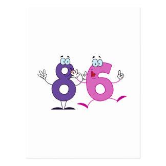 Número feliz 86 postal