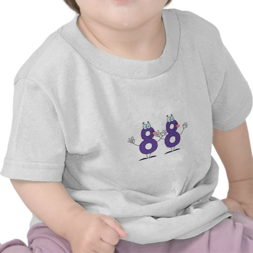 Número feliz 88 camisetas