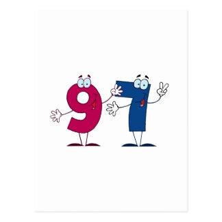 Número feliz 97 postal