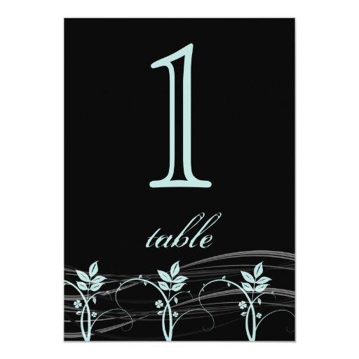 Número floral de la tabla del aniversario del comunicados personales