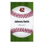 Número fresco del béisbol - personal del instructo plantillas de tarjetas de visita