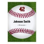 Número fresco del béisbol - personal del instructo tarjetas de visita