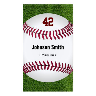 Número fresco del béisbol - personal del tarjetas de visita