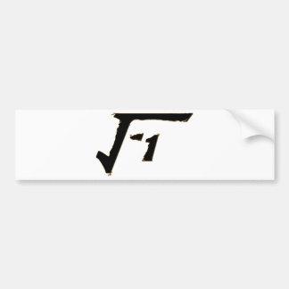 Número imaginario pegatina de parachoque