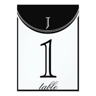 Número inicial de la tabla del aniversario del invitación 12,7 x 17,8 cm