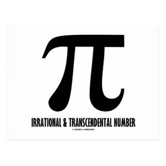 Número irracional y trascendental del pi (matemáti postales