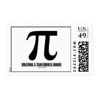 Número irracional y trascendental del pi sello