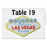 Número Las Vegas de la tabla de la recepción nupci Felicitación