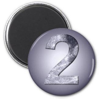 Número lunar del Numerology del símbolo dos afortu Imán Redondo 5 Cm