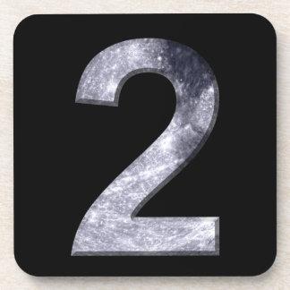 Número mágico de la luna lunar afortunada del posavasos