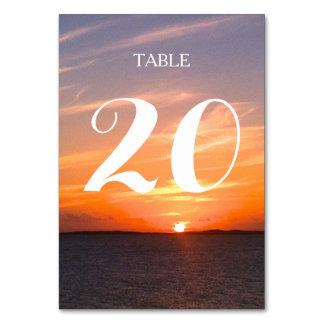 Número magnífico de la tabla del boda de la puesta