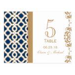 Número marroquí de la tabla del boda de los azules postales