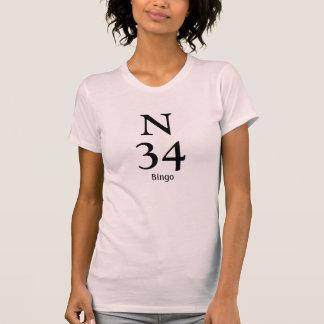 Número N34 del bingo Playera