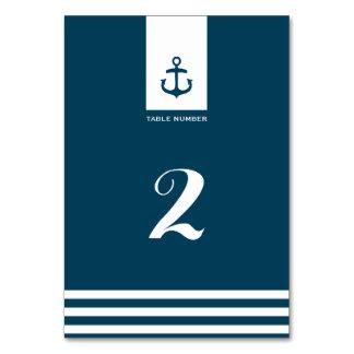Número náutico de la tabla del boda de la marina