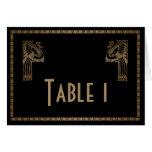 Número negro de la tabla del boda del pavo real de tarjetas