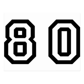 Número ochenta postales