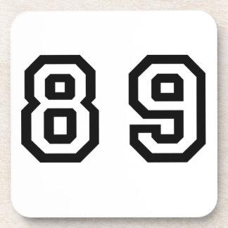Número ochenta y nueve posavasos