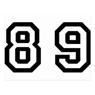 Número ochenta y nueve postal