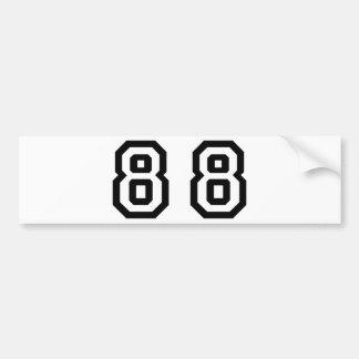Número ochenta y ocho pegatina para auto