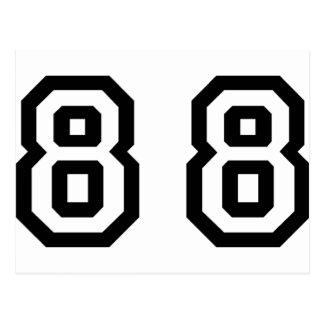 Número ochenta y ocho postales