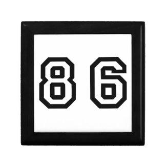 Número ochenta y seis joyero cuadrado pequeño