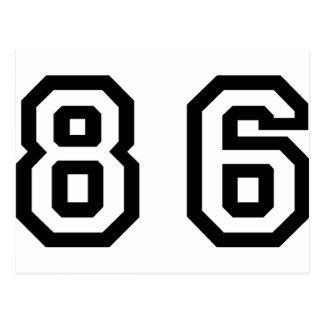 Número ochenta y seis postales