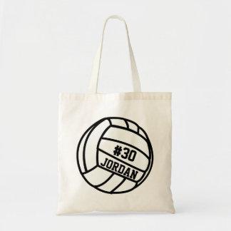 Número personalizado del jugador de voleibol, bolsa tela barata