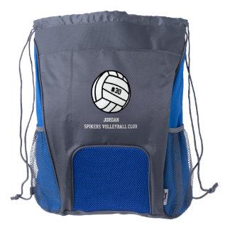 Número personalizado del jugador de voleibol, mochila de cordón