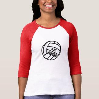 Número personalizado del jugador de voleibol, poleras