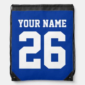 Número personalizado el | azul del jersey del bols mochilas