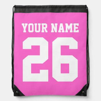 Número personalizado el | rosado del jersey del bo mochila