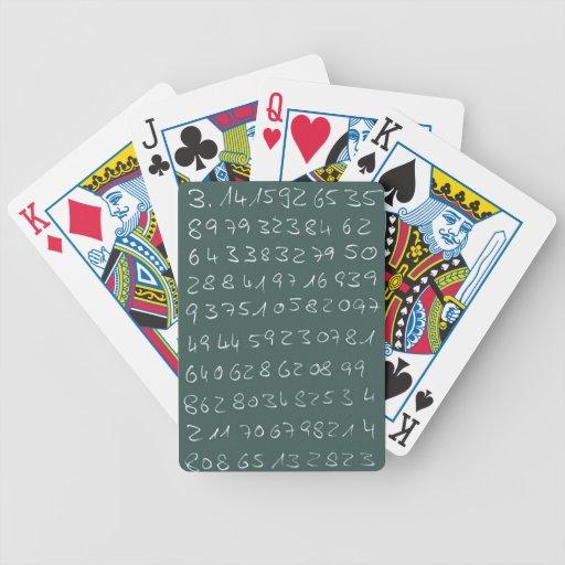 Número pi baraja de cartas