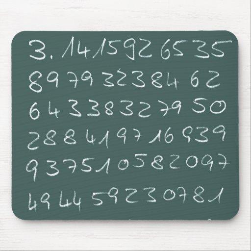 Número pi mousepads