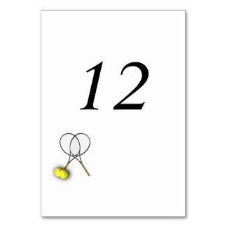 Número Placecards de la tabla del tema del tenis