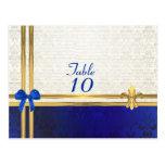 Número poner crema azul de la tabla del damasco tarjeta postal