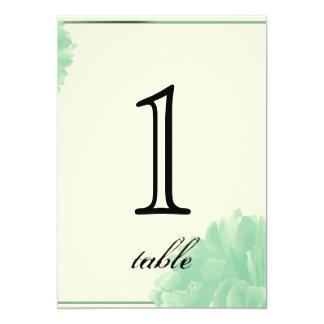 Número poner crema de la tabla del aniversario del invitación 12,7 x 17,8 cm