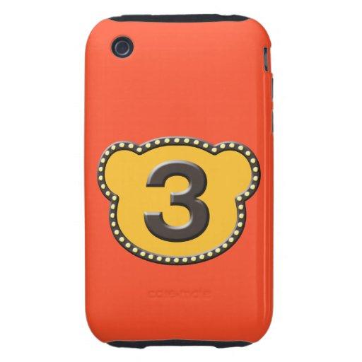 Número principal 3 del oso funda though para iPhone 3