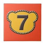 Número principal 7 del oso tejas  ceramicas